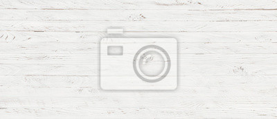 Obraz white wood texture background, top view wooden plank panel
