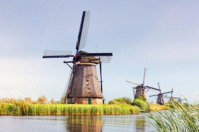 Obraz Wiatrak w Kinderdijk, Holandia