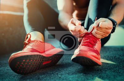 Obraz Wiązania butów sportowych
