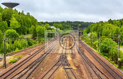 Widok Fleming górskiej stacji w pobliżu Sztokholmu, w Szwecji