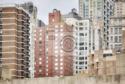 Widok Manhattan budynki, Miasto Nowy Jork, usa.
