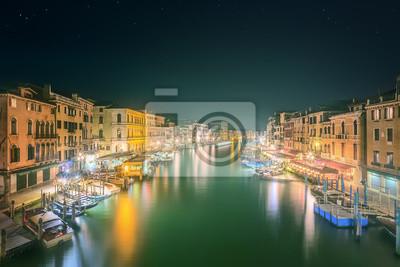 Widok na Canal Grande w Wenecji i budynków
