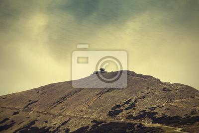 Widok na góry, natura, vintage, tekstury tła.