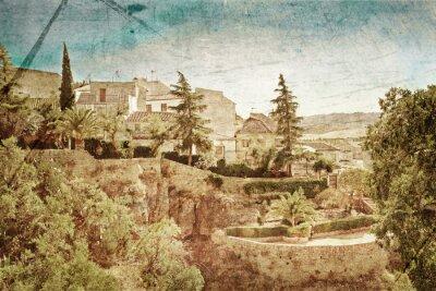 Obraz Widok na kanion i stare miasto w grunge