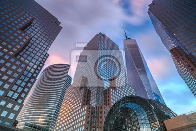 Obraz Widok na Manhattan drapacz chmur podczas zmierzchu