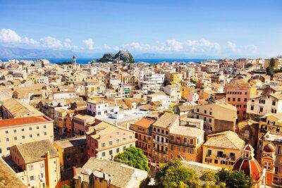Obraz Widok na miasto Korfu, Grecja