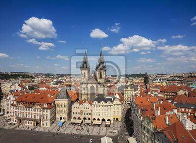 Widok na Pradze, Republika Czeska.