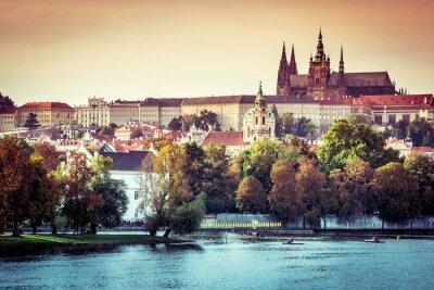 Obraz Widok na Stare Miasto i Zamek Praski