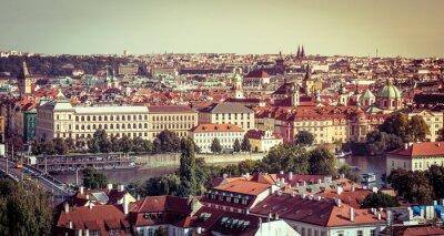 Obraz Widok na Stare Miasto z Zamkiem Praskim
