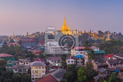 Widok o świcie z Pagoda Shwe Dagon, Yangoon