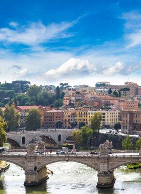 Obraz Widok powyżej Rzymu i Tybru w Rzymie
