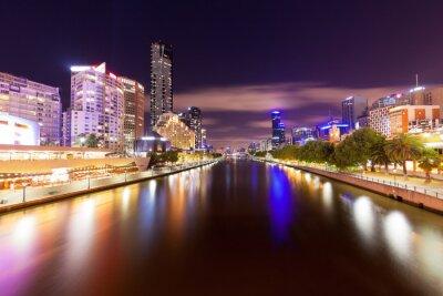 Obraz Widok rzeki Yarra w Melbourne w nocy