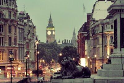 Obraz Widok ulicy Trafalgar Square