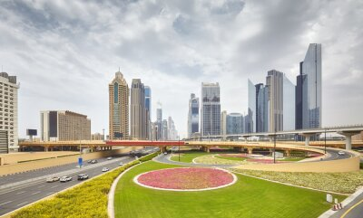 Widok w centrum Dubaju, Zjednoczone Emiraty Arabskie