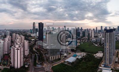 Widok z lotu ptaka dzielnicy biznesowej Dżakarty