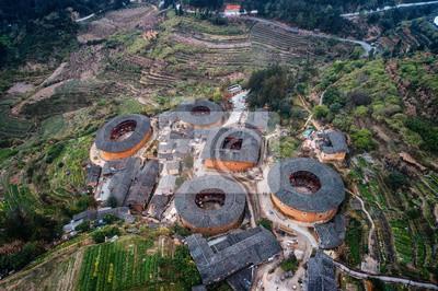 Widok z lotu ptaka Fujian Tulou