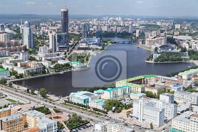 Widok z lotu ptaka Jekaterynburgu