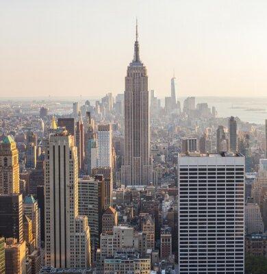 Obraz Widok z lotu ptaka Manhattanie, Nowy Jork