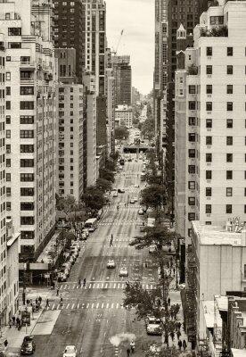 Obraz Widok z lotu ptaka na 59. i 60. ulicy na Manhattanie