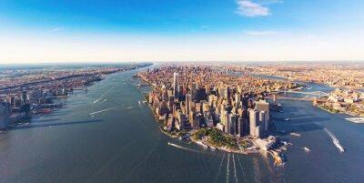 Obraz Widok z lotu ptaka na dolnym Manhattanie Nowym Jorku
