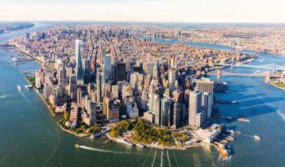 Obraz Widok z lotu ptaka na niższym Manhattanie w Nowym Jorku