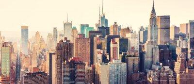 Obraz Widok z lotu ptaka panoramę Nowego Jorku