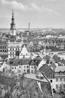 Widok z lotu ptaka Poznań Stare Miasto, Polska.