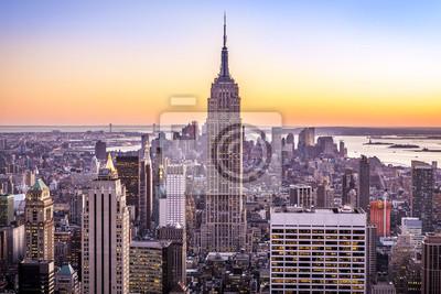 Obraz Widok z lotu ptaka w Nowym Jorku w USA.