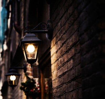 Obraz Widok z podświetlanym latarni