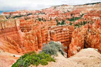 Widok z punktu widzenia Bryce Canyon. Utah. USA