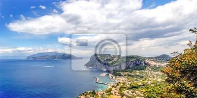Widoki na Capri i Amalfi Coast