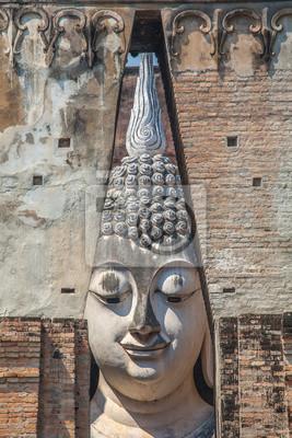 Obraz Wielki Budda w Srichum świątyni. Województwo Sukhothai, Tajlandia