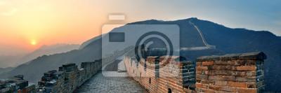 Wielki Mur słońca panoramy