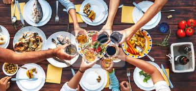 Obraz Wielki rodzinny obiad.