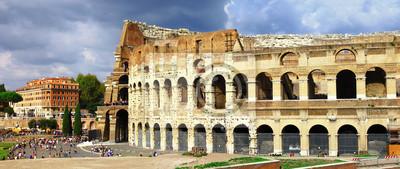 wielki Rzym, panoramiczny widok z Koloseum
