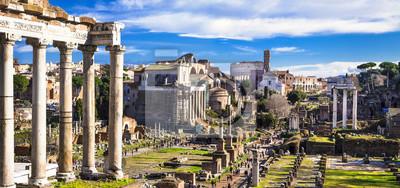 Wielki Rzym - widok panoramiczny forum cesarskiej