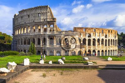 Wielki włoski landmarks- Koloseum, Rzym