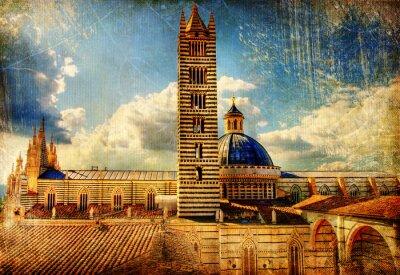 Wielki zabytków włoski -Siena katedra