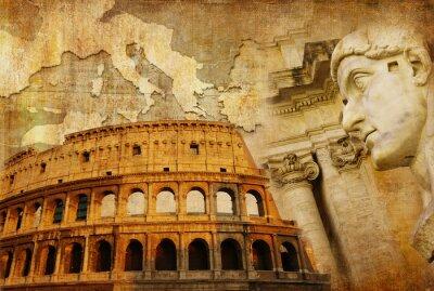 wielkie Imperium Rzymskie - koncepcyjny kolaż w stylu retro
