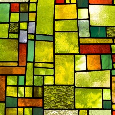 Obraz Wielobarwny okno witraże, format kwadratowy