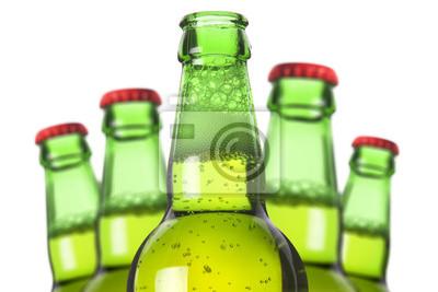 Wiersz butelek piwa