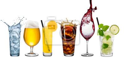 Obraz Wiersz różnych napojów