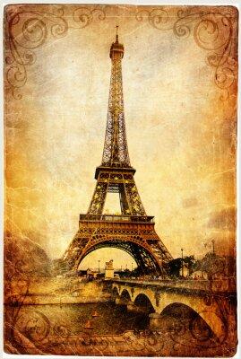 Obraz Wieża Eiffla - retro obraz