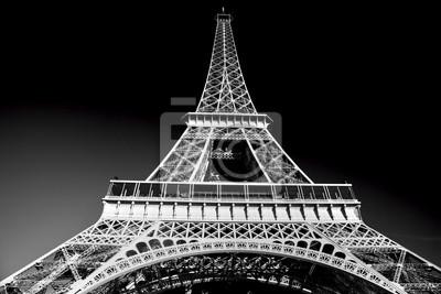 Wieża Eiffla w tonie artystyczne, czarno-biały, Paryż, Francja