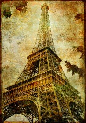 Wieża Eiffla - zabytkowe karty