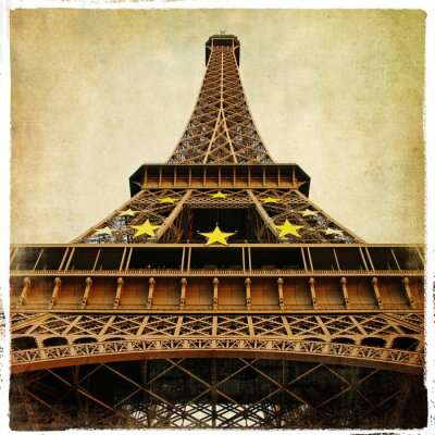 Wieża Eiffla - zdjęcie w stylu retro