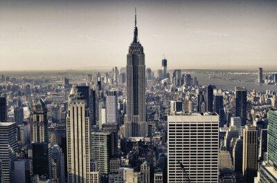 Wieżowce w Nowym Jorku w zimie
