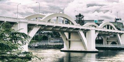 Obraz William Jolly Bridge w godzinach popołudniowych w Brisbane, Queensland, Australia.