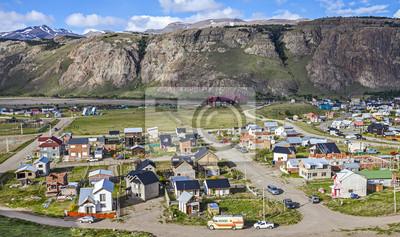 Wioska El Chalten w Argentynie.