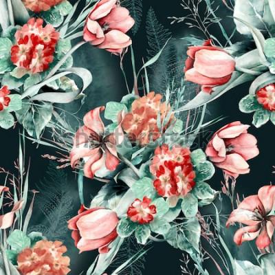 Obraz Wiosna Bezszwowy Wzór